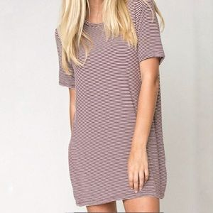 Brandy Melville Classic Striped T-Shirt Dress